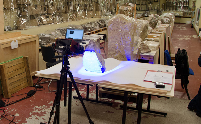 3D-Scanning at the Louvre Museum in Paris | Photo: Sundial collaboration, Edition Topoi | Copyright: Exc Topoi